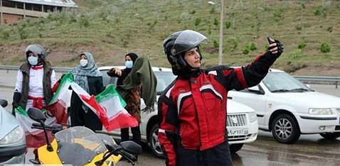 موتورسواری زنان در مراسم روز قدس