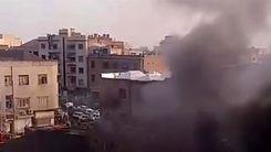آتش سوزی وحشتناک در دروازه دولت تهران + فیلم