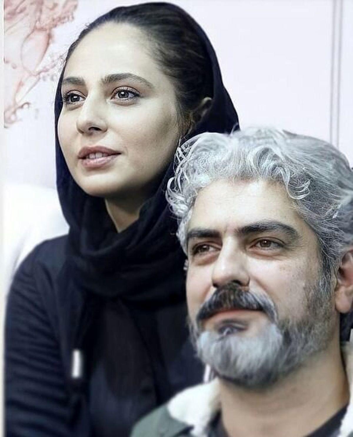 عکس عاشقانه مهدی پاکدل و همسرش لو رفت+تصاویر دیده نشده