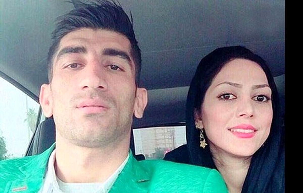عکس عاشقانه علیرضا بیرانوند و همسرش