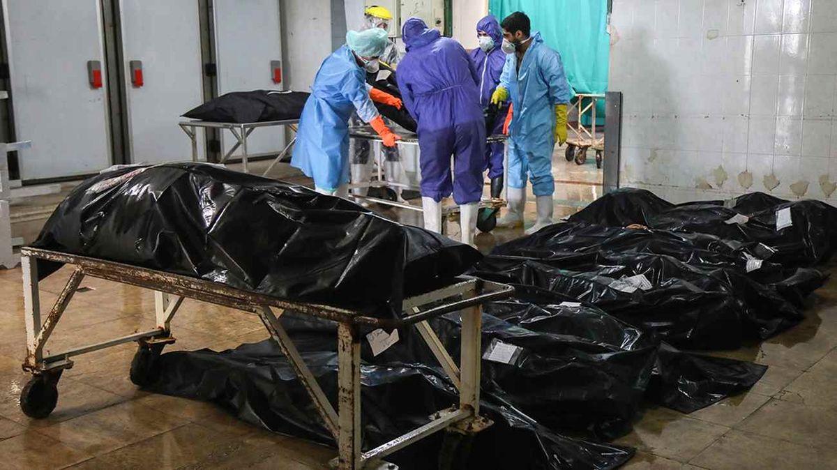 اجساد کرونایی در بیمارستان و قبرستان | عکس های وحشتناک