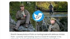 پوتین همراه با وزیرش در حال شکار +عکس