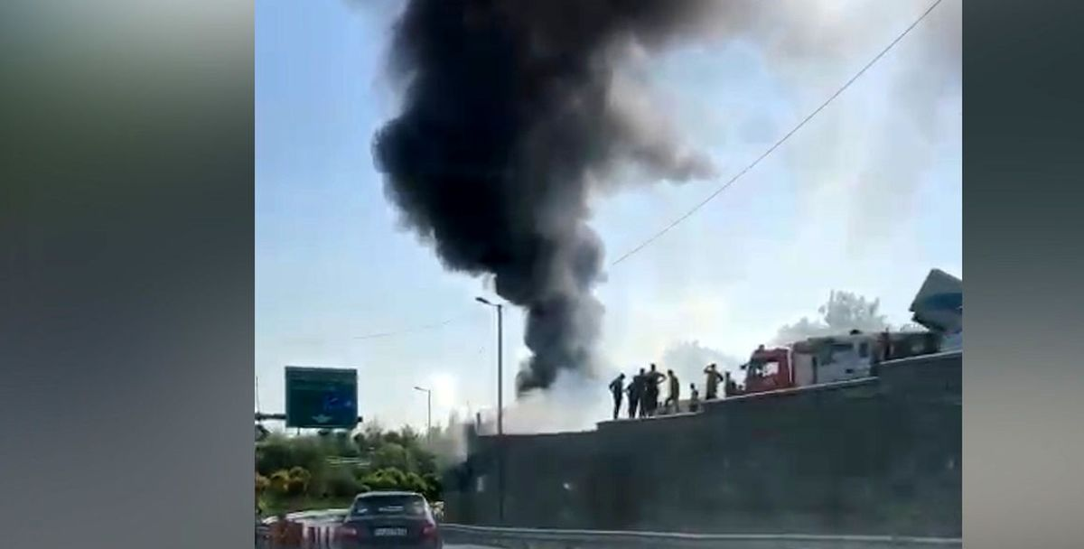 فیلم لحظه آتش سوزی وحشتناک در صادقیه + فیلم دیده نشده