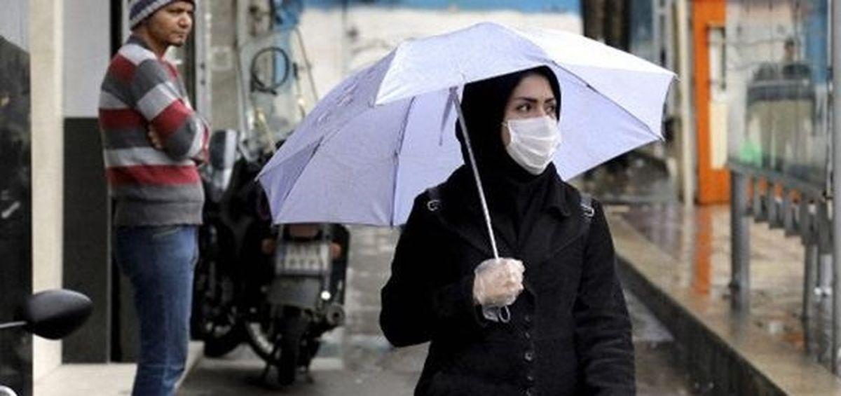 نحوه  استفاده از ماسک در روزهای بارانی+جزئیات