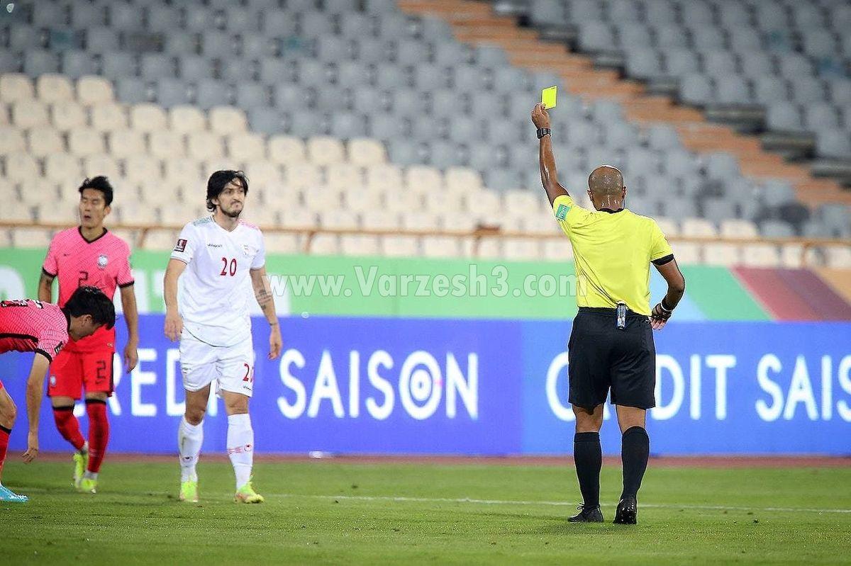 عکس دو نفری کاپیتان ها ایران و کره بعد از بازی