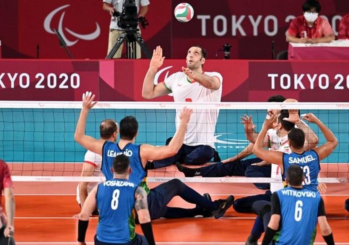 صعود تیم والیبال نشسته ایران به مرحله نیمه نهایی