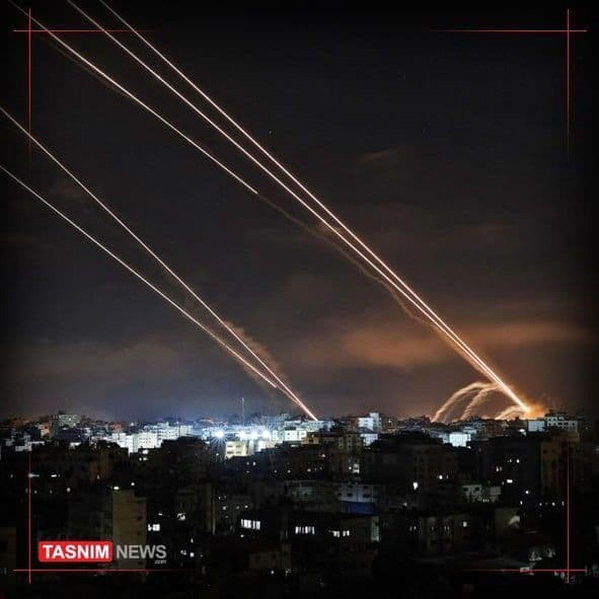 واکنش خمپاره ای مقاومت حماس به حملات رژیم صهیونیستی